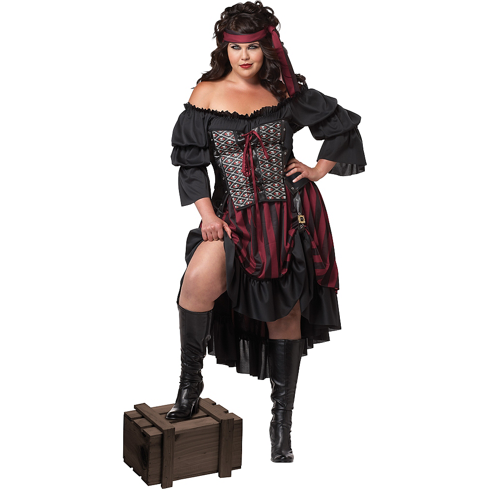 Nav Item for Adult High Seas Pirate Priestess Costume Plus Size Image #1