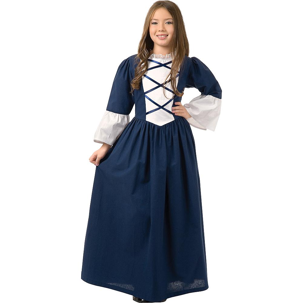 Girls Martha Washington Costume Image #1