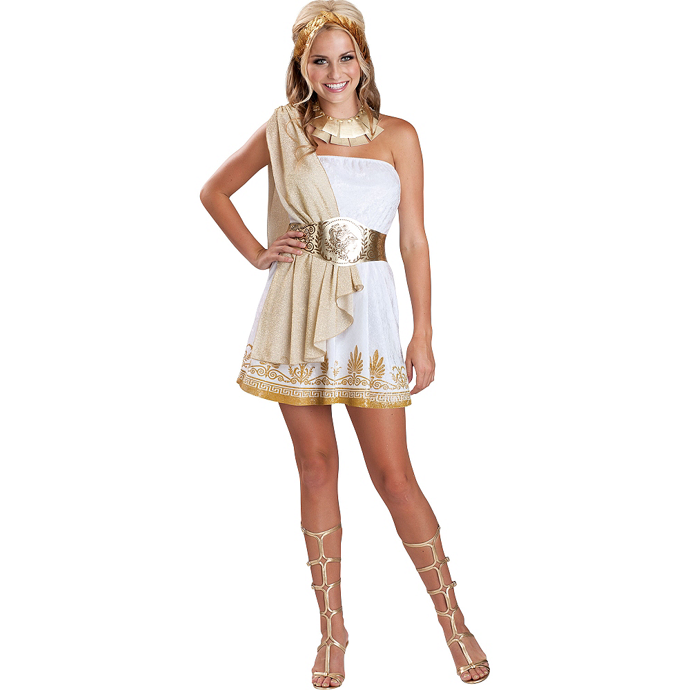 Teen Girls Glitzy Goddess Costume Image #1