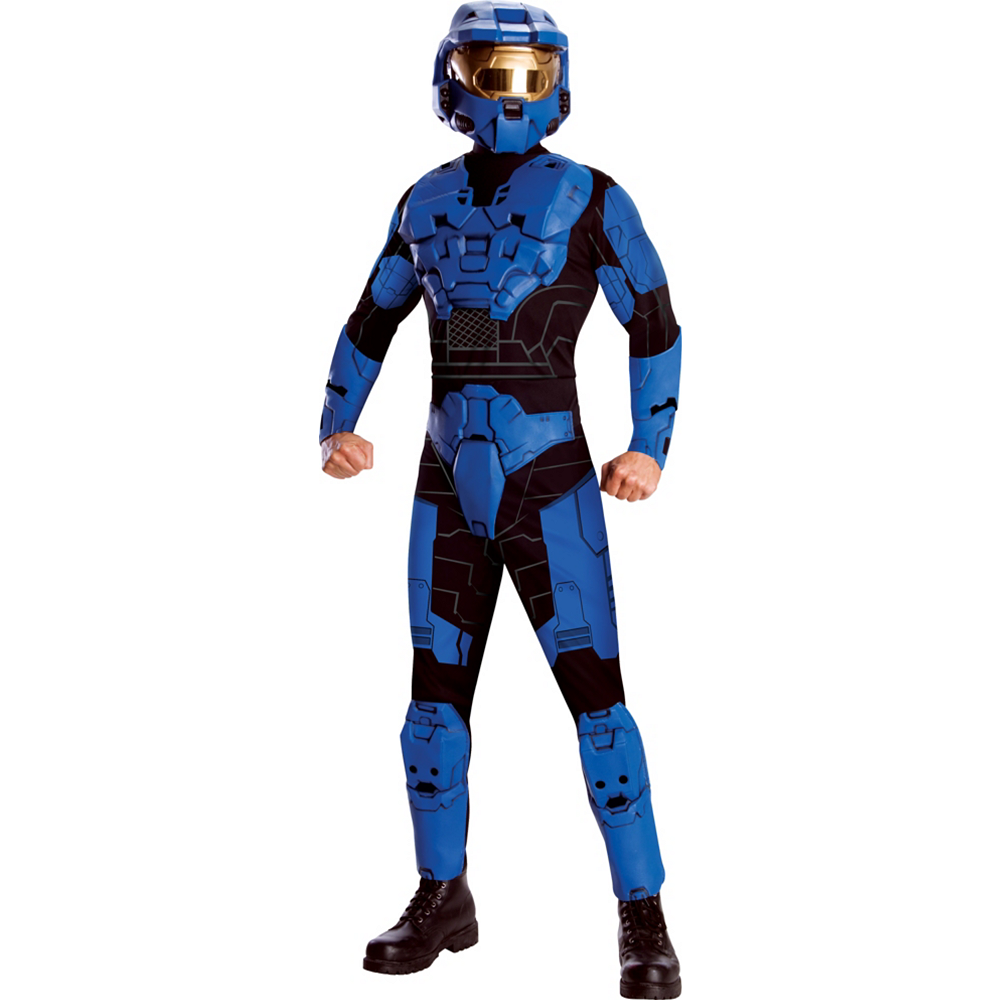 Adult Halo Blue Costume Deluxe Image #1