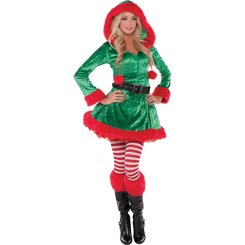 Christmas Elf Costume.Adult Sassy Elf Costume