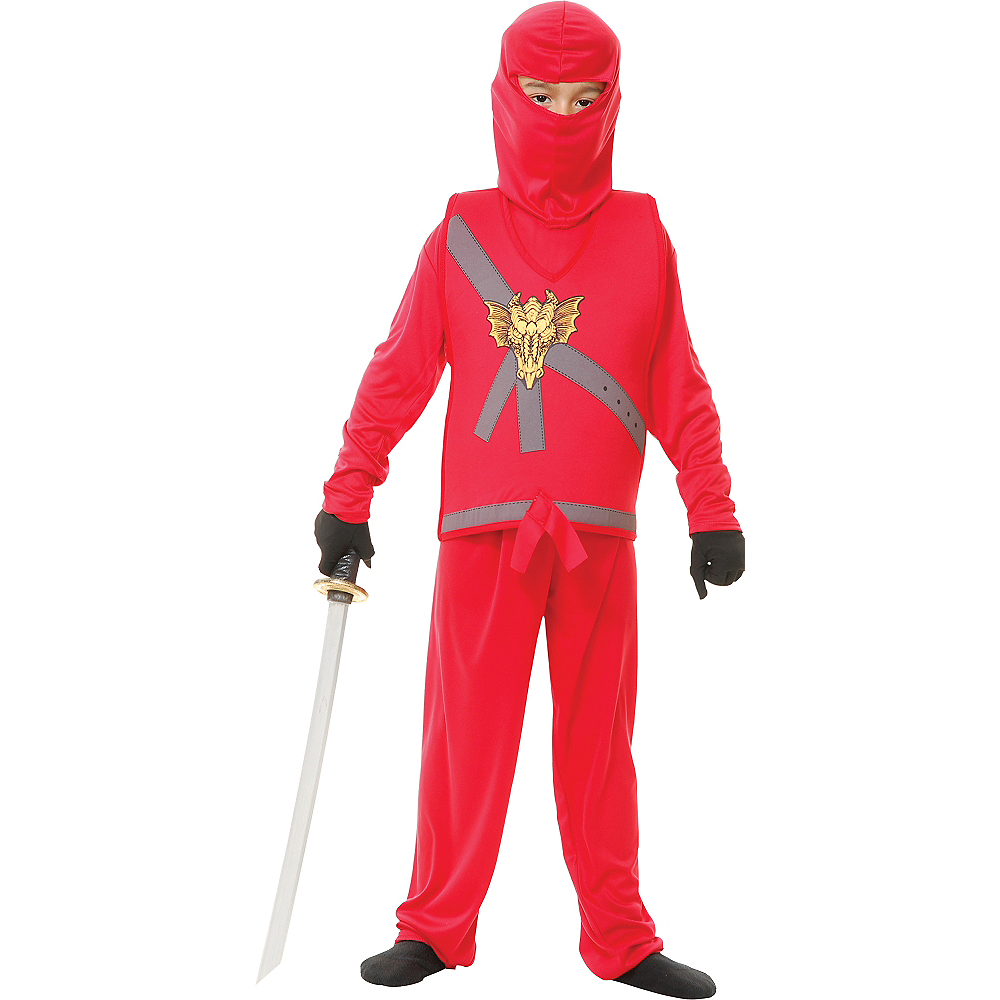 Boys Red Ninja Avenger Costume Image #1