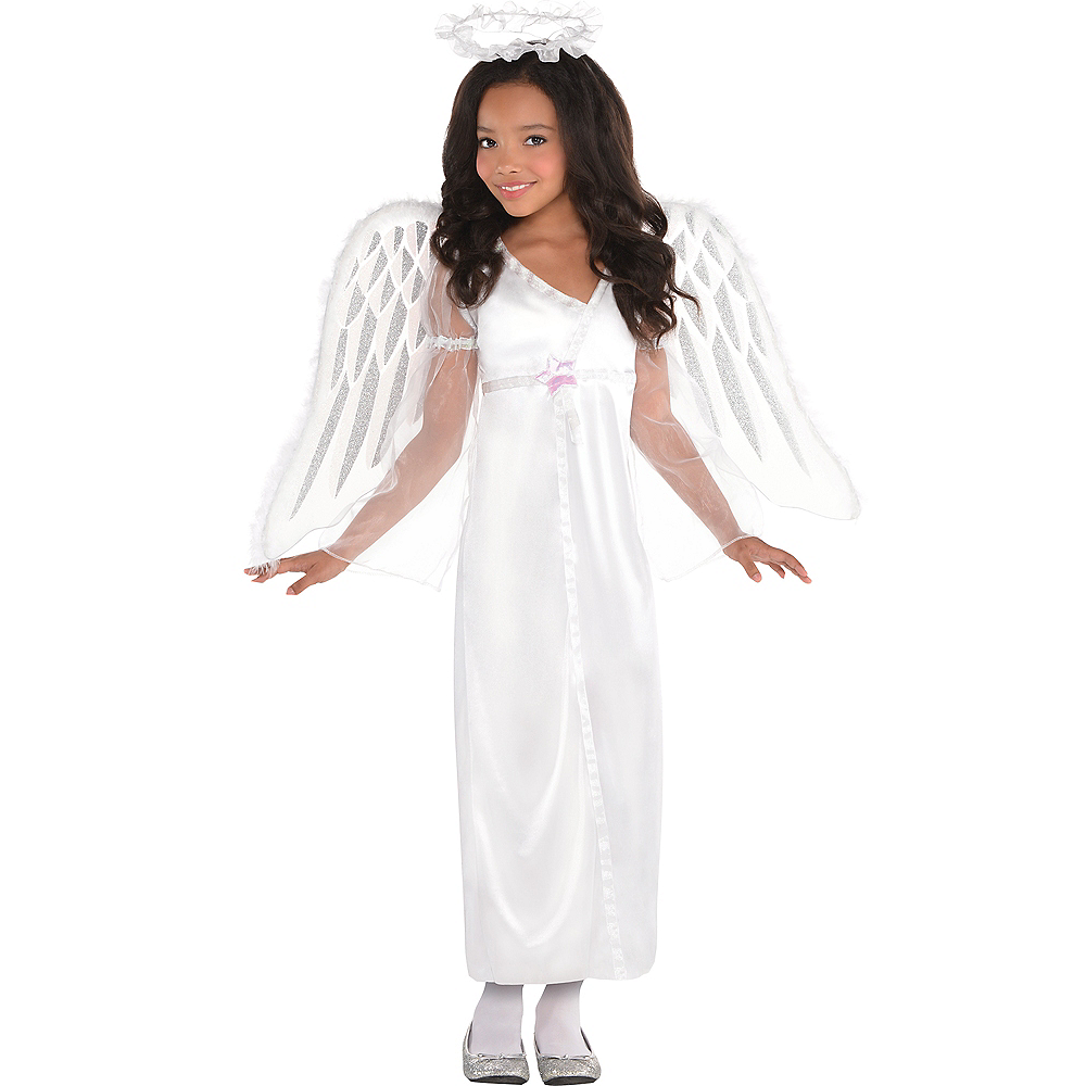 Girls Heavenly Angel Costume Image #1