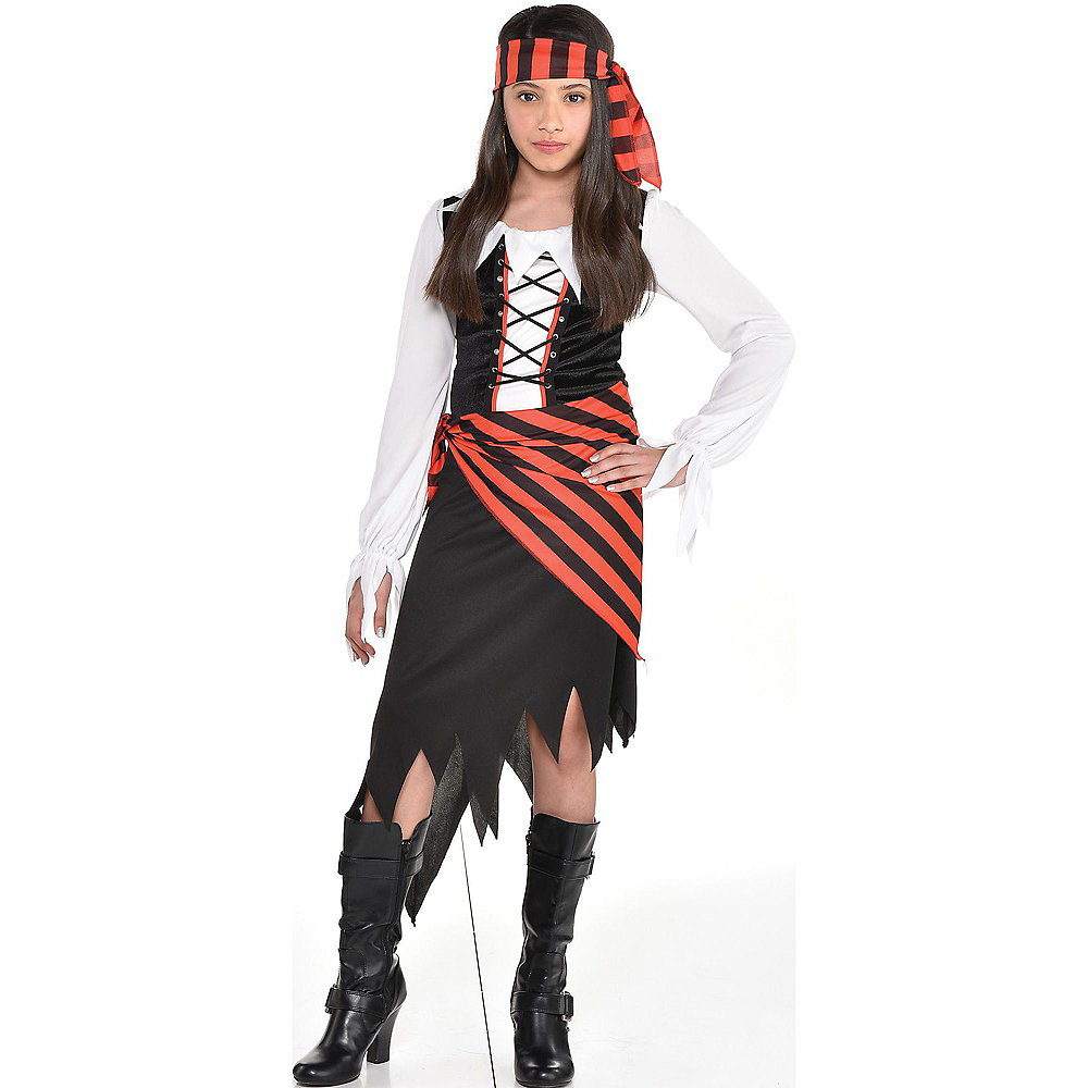 Girls Buccaneer Beauty Pirate Costume Image #1