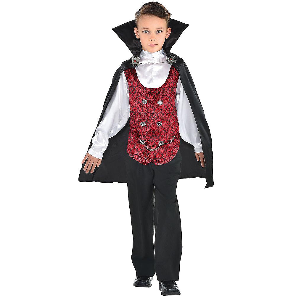 Boys Dark Vampire Costume Image #1