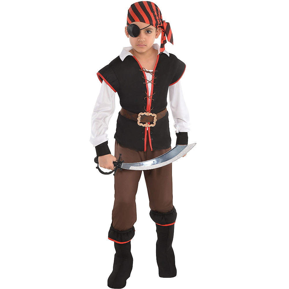 Boys Rebel of the Sea Pirate Costume Image #1