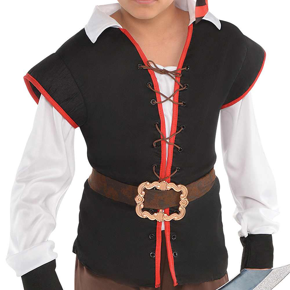 Nav Item for Boys Rebel of the Sea Pirate Costume Image #3