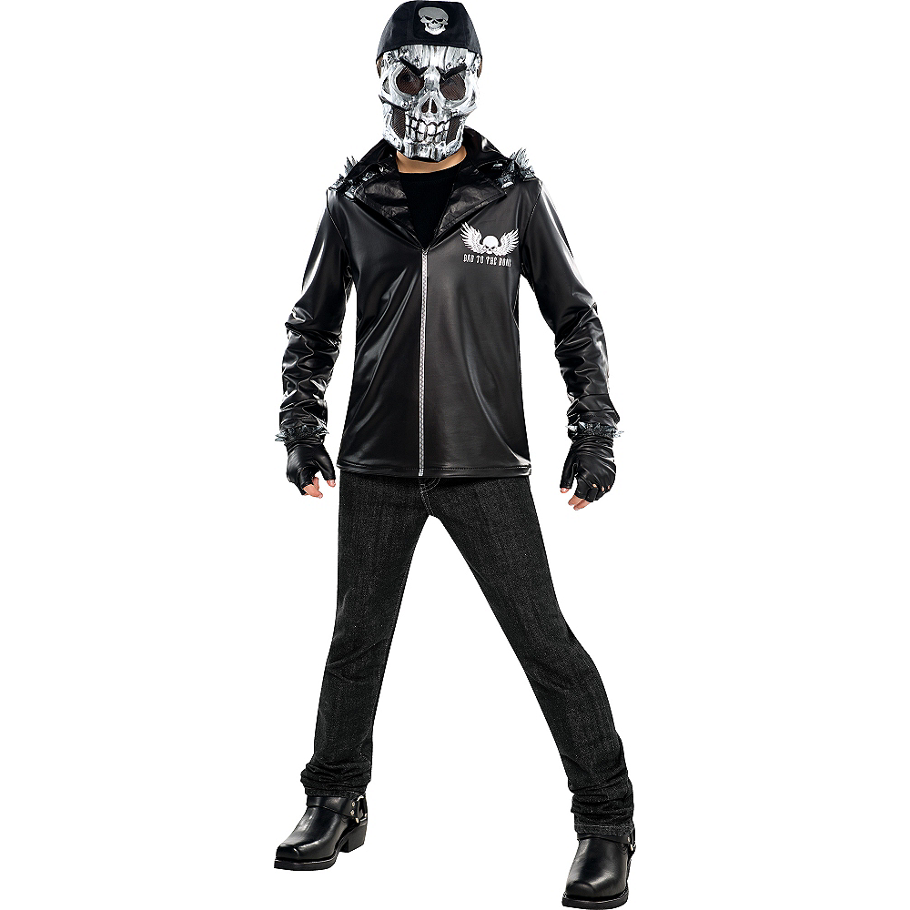 Nav Item for Boys Bad to the Bone Costume Image #1