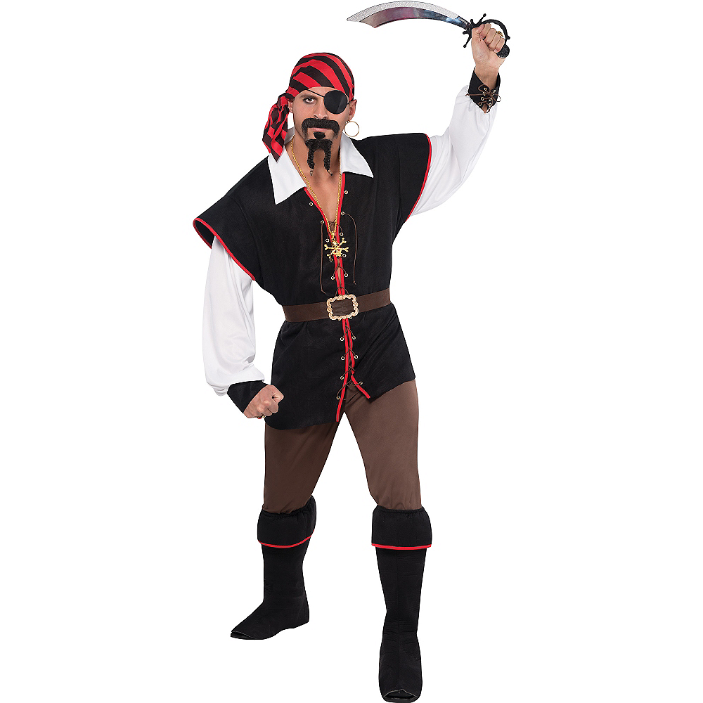 Nav Item for Adult Rebel of the Sea Pirate Costume Image #1