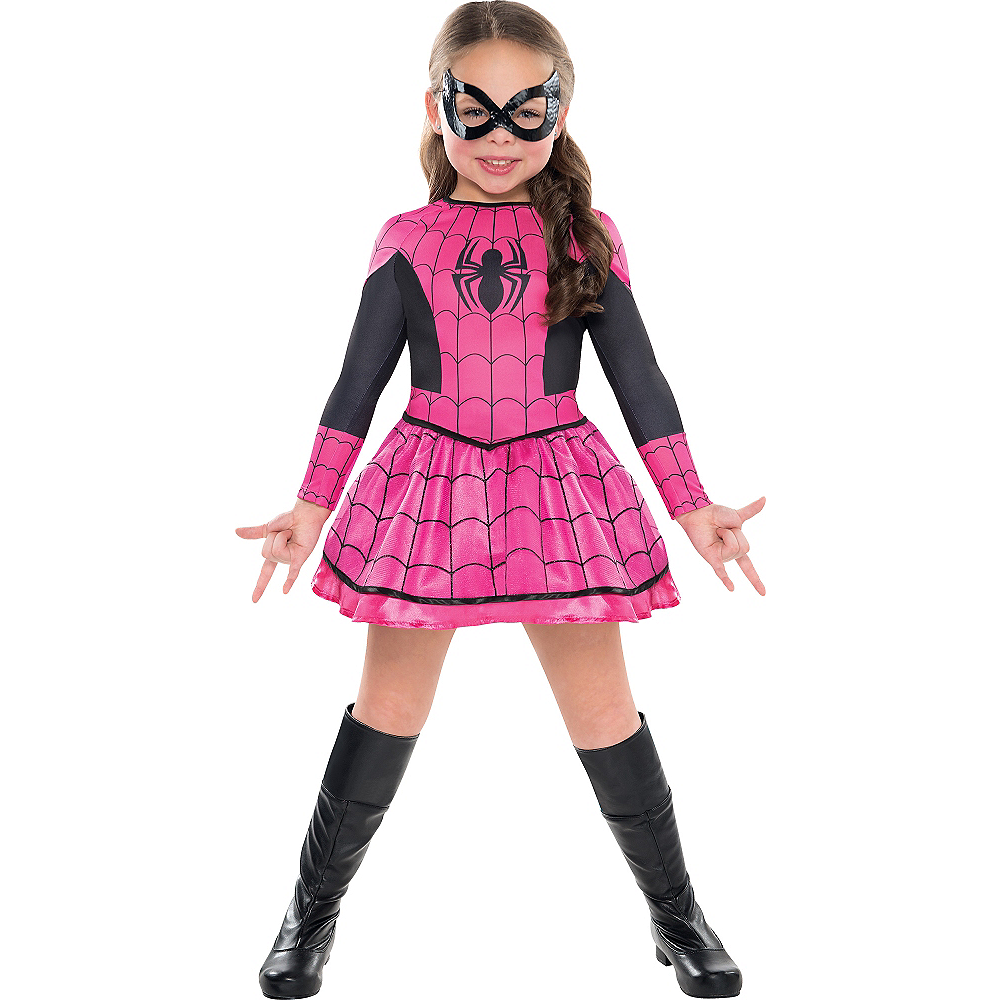 Girls Pink Spider-Girl Costume Image #1