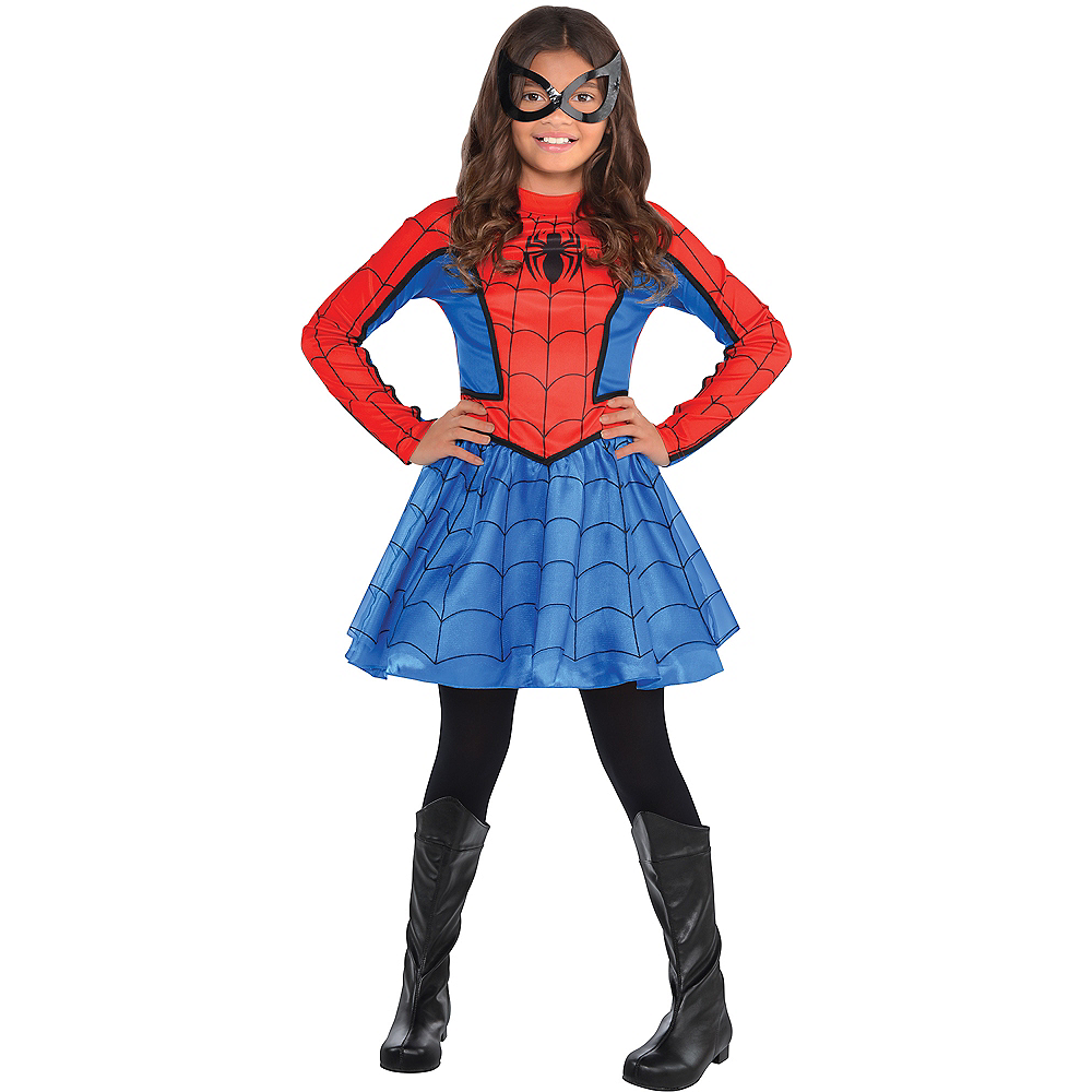 Girls Red Spider-Girl Costume Image #1