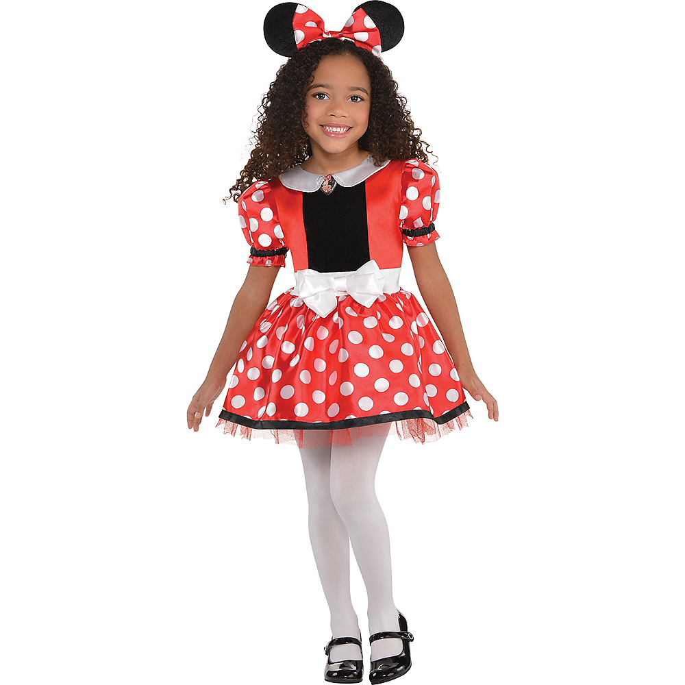 Nav Item for Girls Red Minnie Mouse Costume Image #1