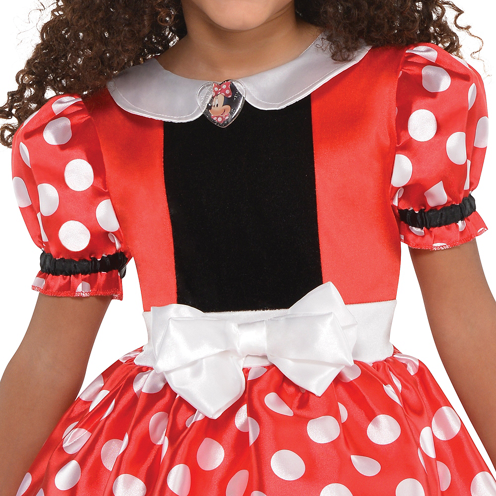 Girls Red Minnie Mouse Costume Image #2