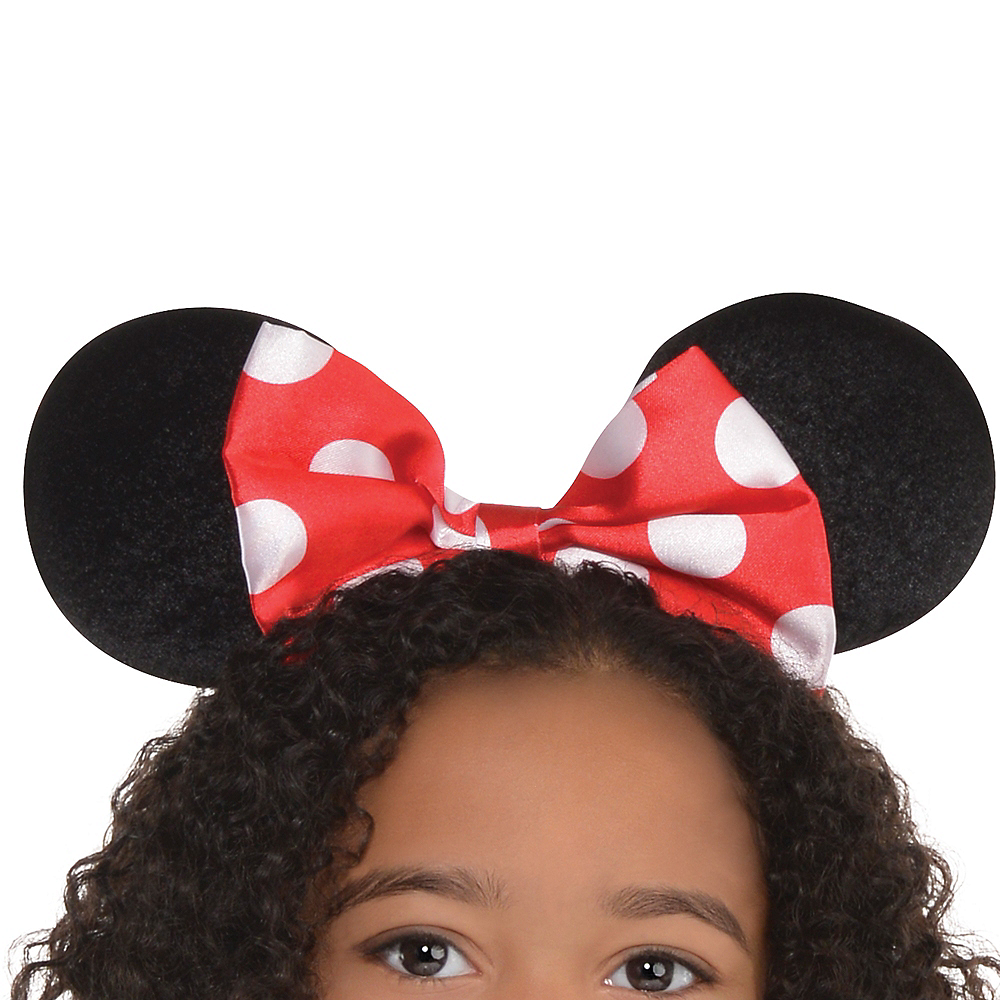 Girls Red Minnie Mouse Costume Image #4