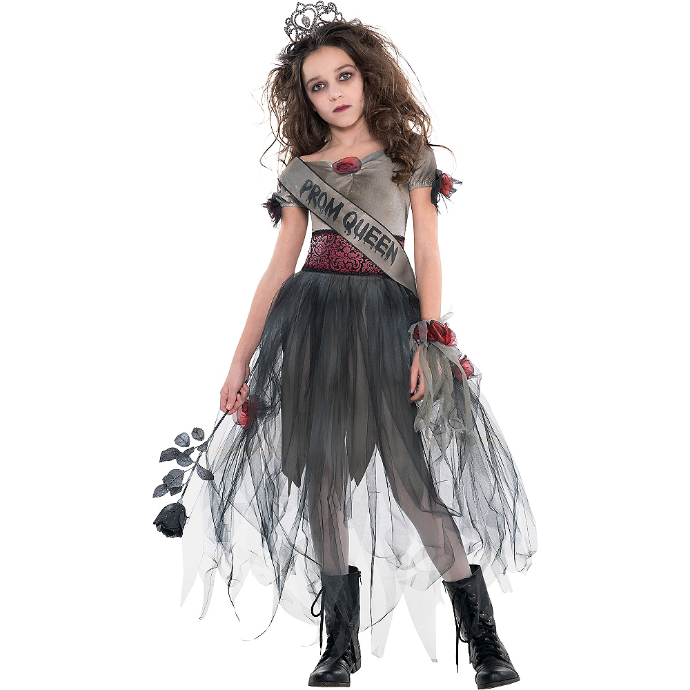 Nav Item for Girls Prom Corpse Costume Image #1
