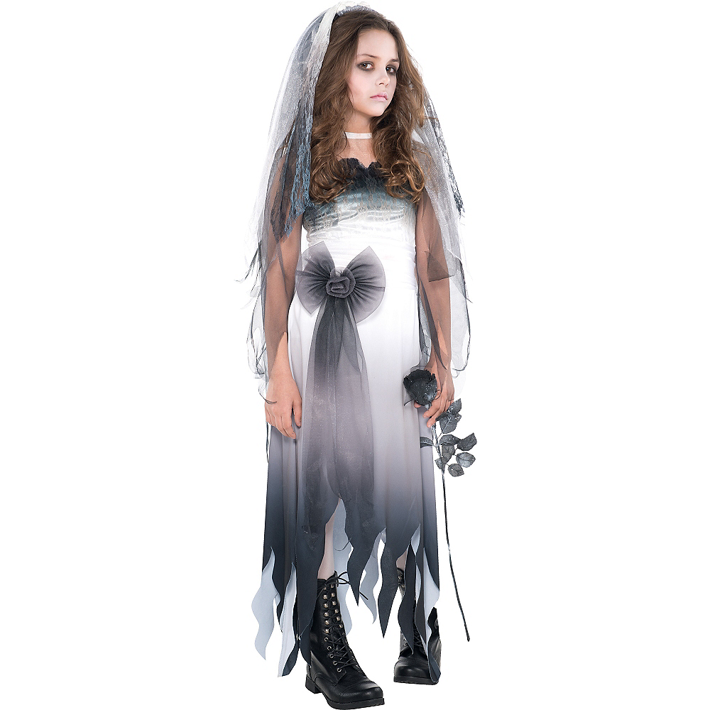 Girls Graveyard Bride Costume Image #1
