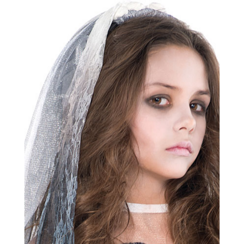 Girls Graveyard Bride Costume Image #2