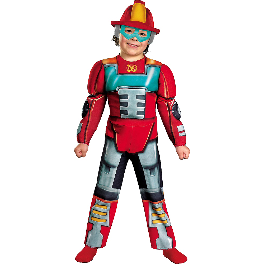 Toddler Boys Heatwave Muscle Costume - Transformers Rescue Bots Image #1