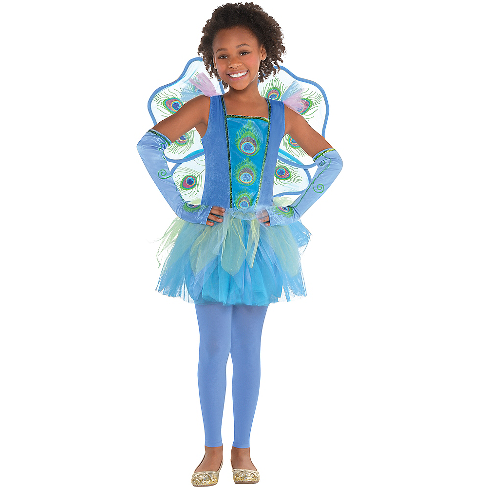 Nav Item for Girls Princess Peacock Costume Image #1