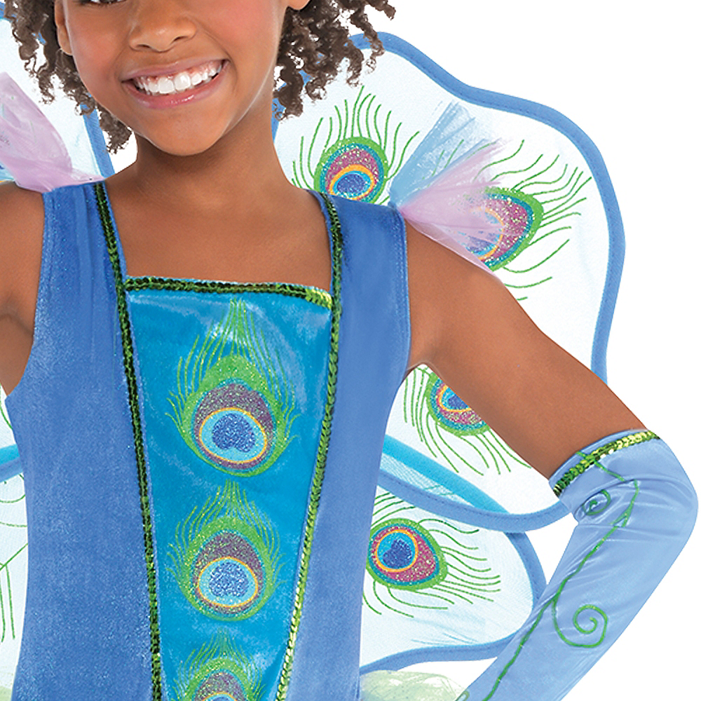 Nav Item for Girls Princess Peacock Costume Image #3