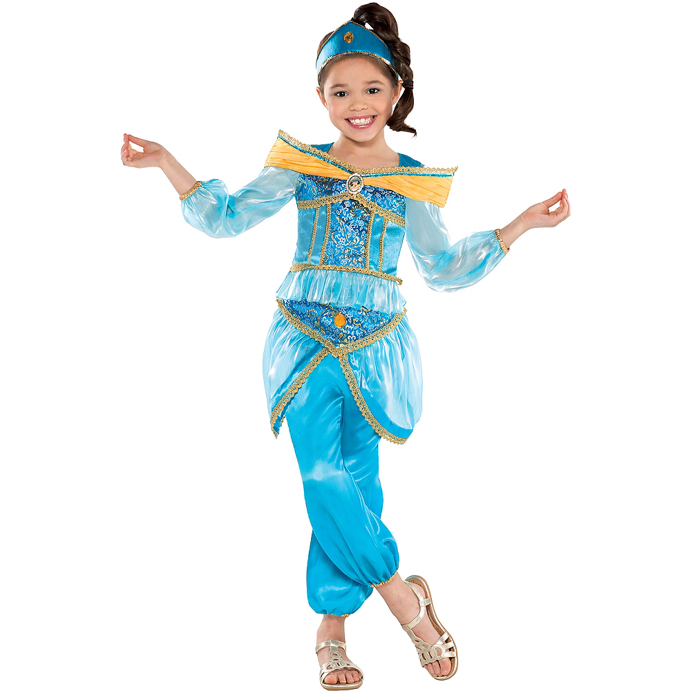 Nav Item for Girls Jasmine Costume Image #1