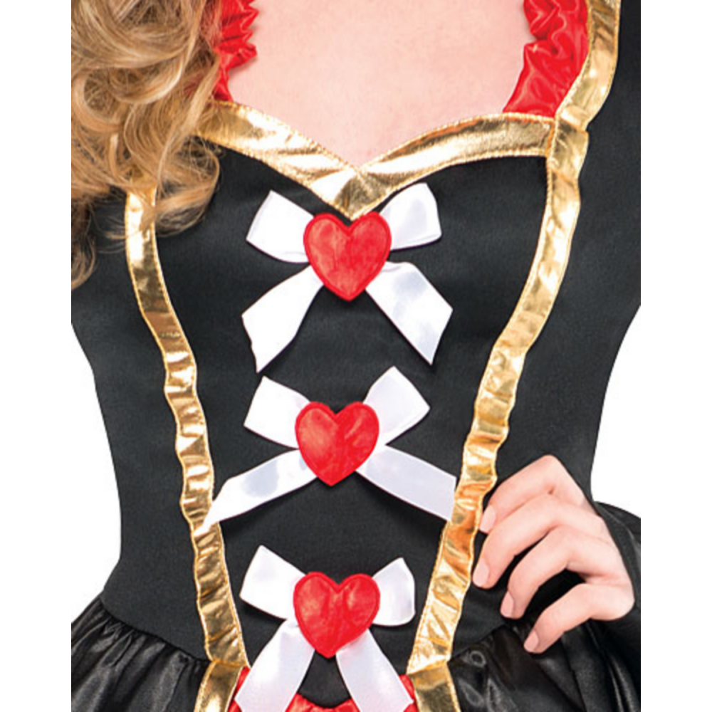 Teen Girls Sassy Queen of Hearts Costume Image #3