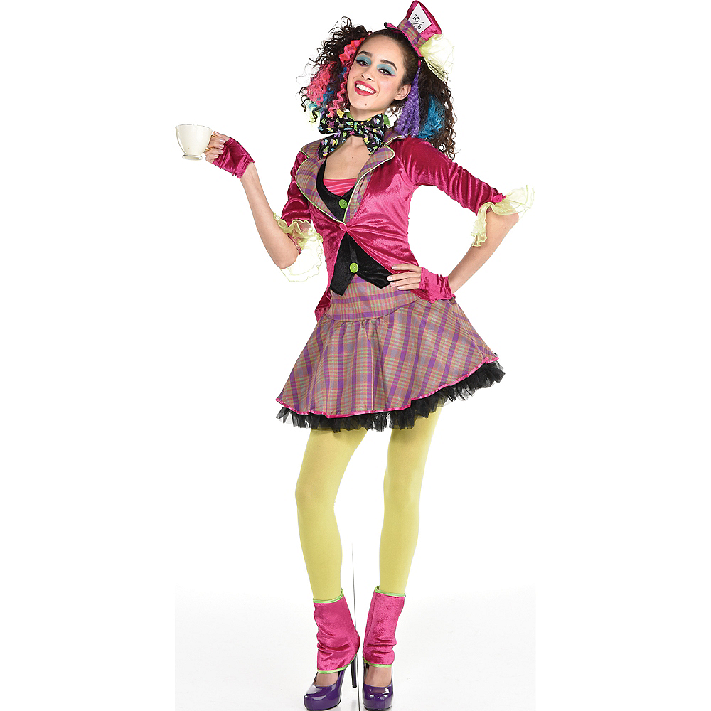 Adult Girls Teatime Mad Hatter Costume  Party City-5073