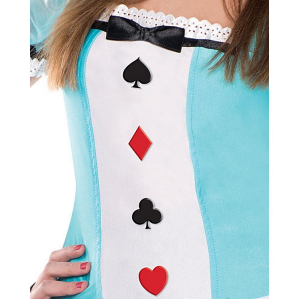 Teen Girls Clever Alice Costume Image #3