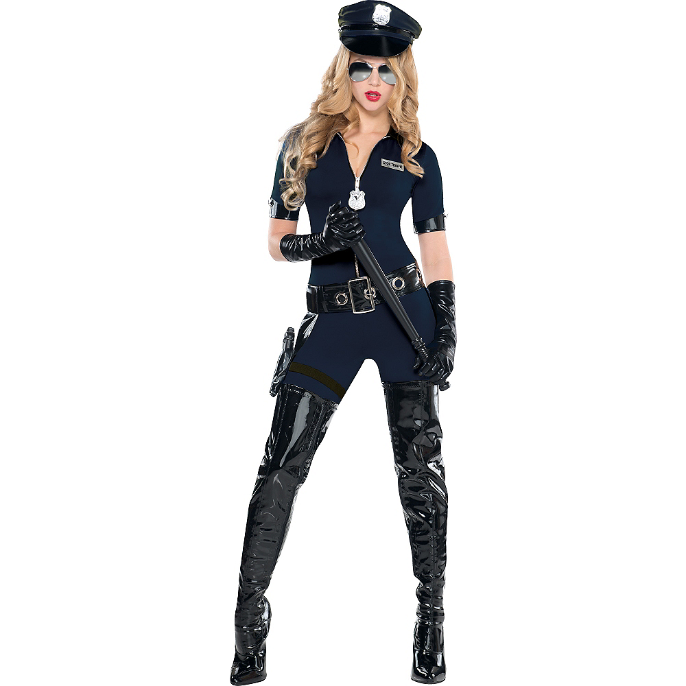 Adult Stop Traffic Sexy Cop Costume Image #1