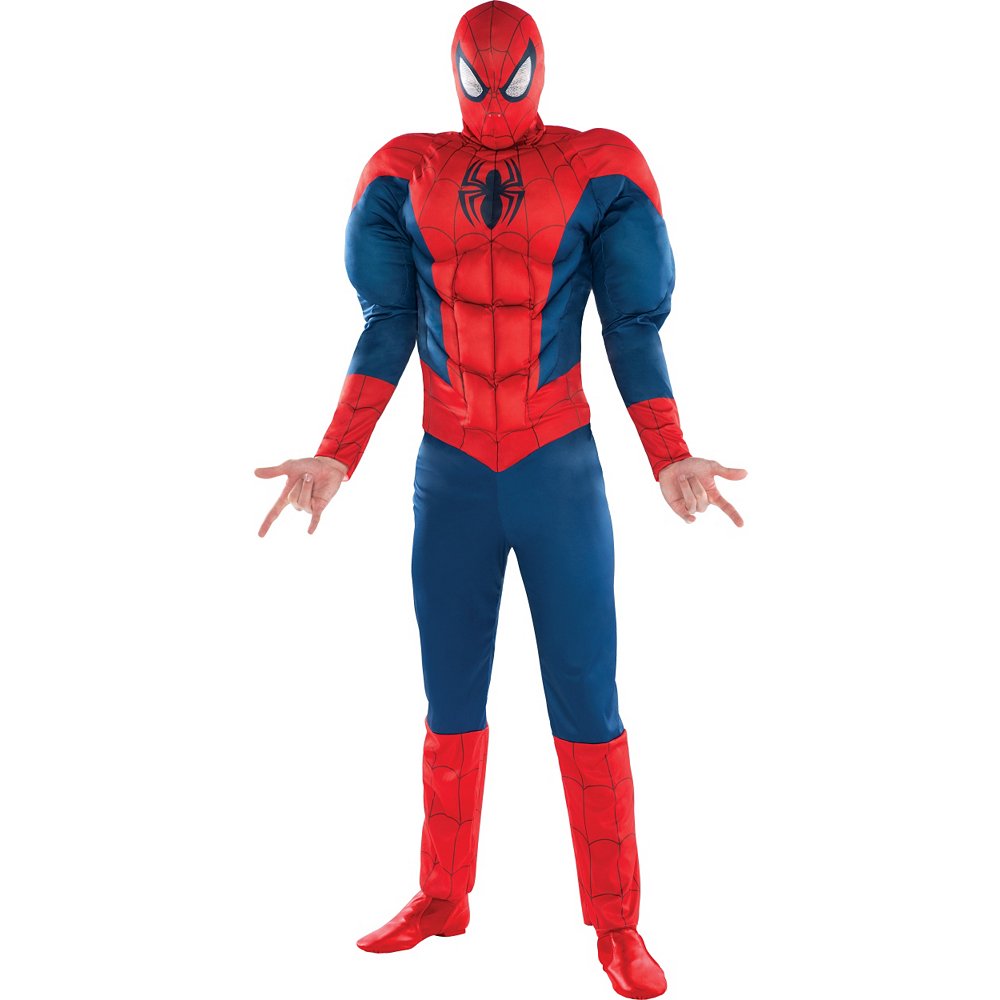 Nav Item for Adult Classic Spider-Man Muscle Costume Image #1