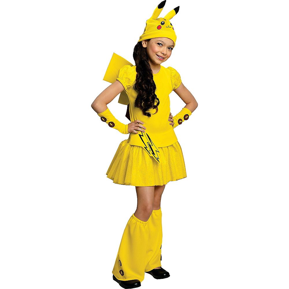 Girls Pikachu Costume Deluxe - Pokemon Image #1