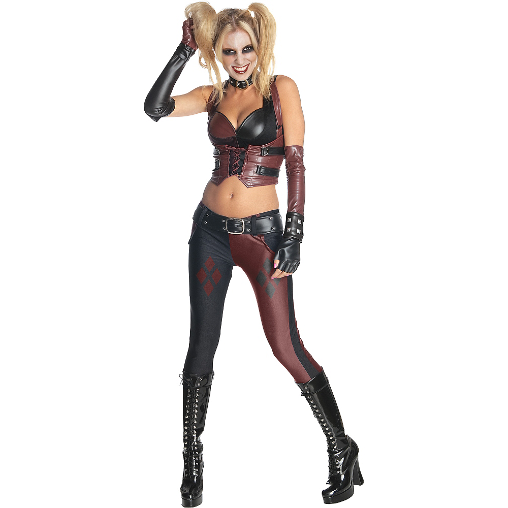 Adult Arkham City Harley Quinn Costume - Batman Image #1