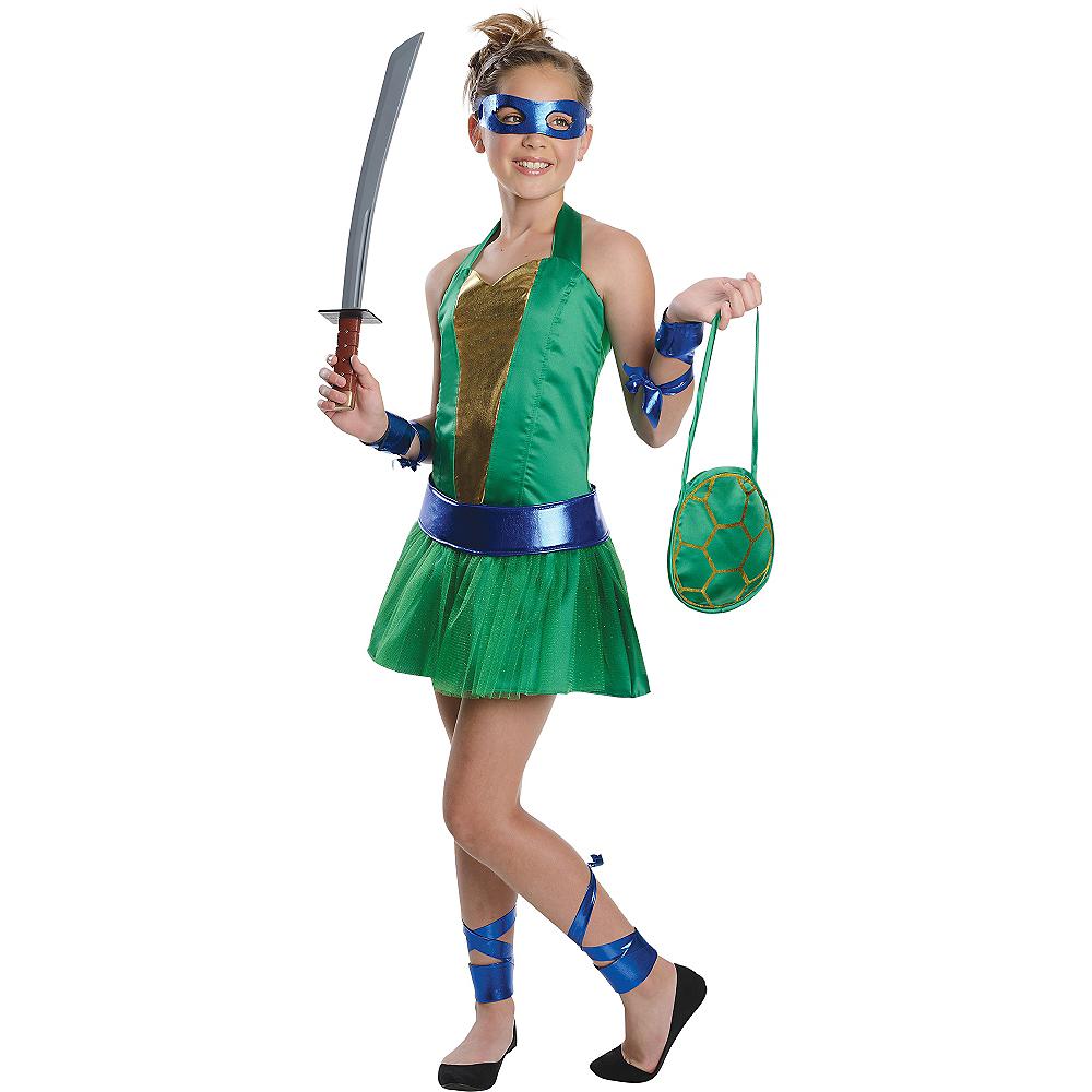Teen Girls Leonardo Costume - Teenage Mutant Ninja Turtles Image #1