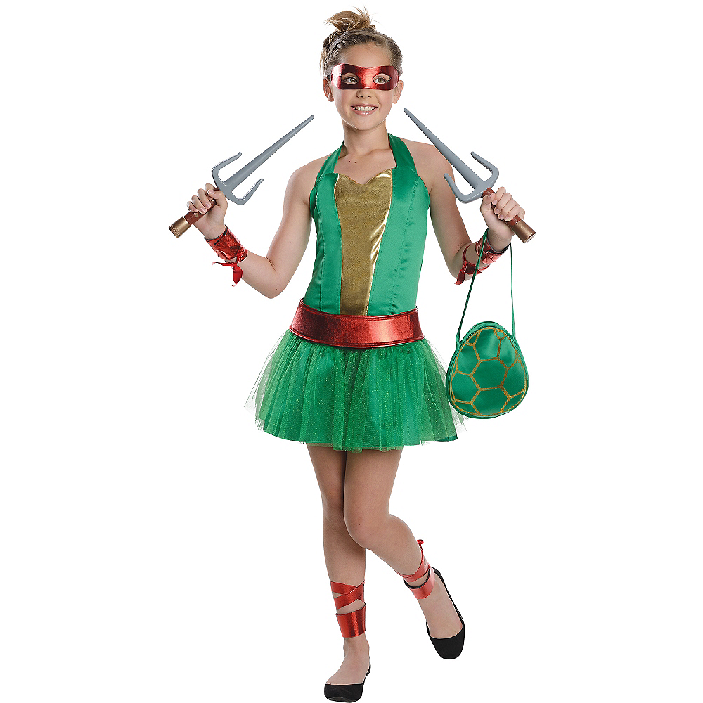 Teen Girls Raphael Costume - Teenage Mutant Ninja Turtles Image #1