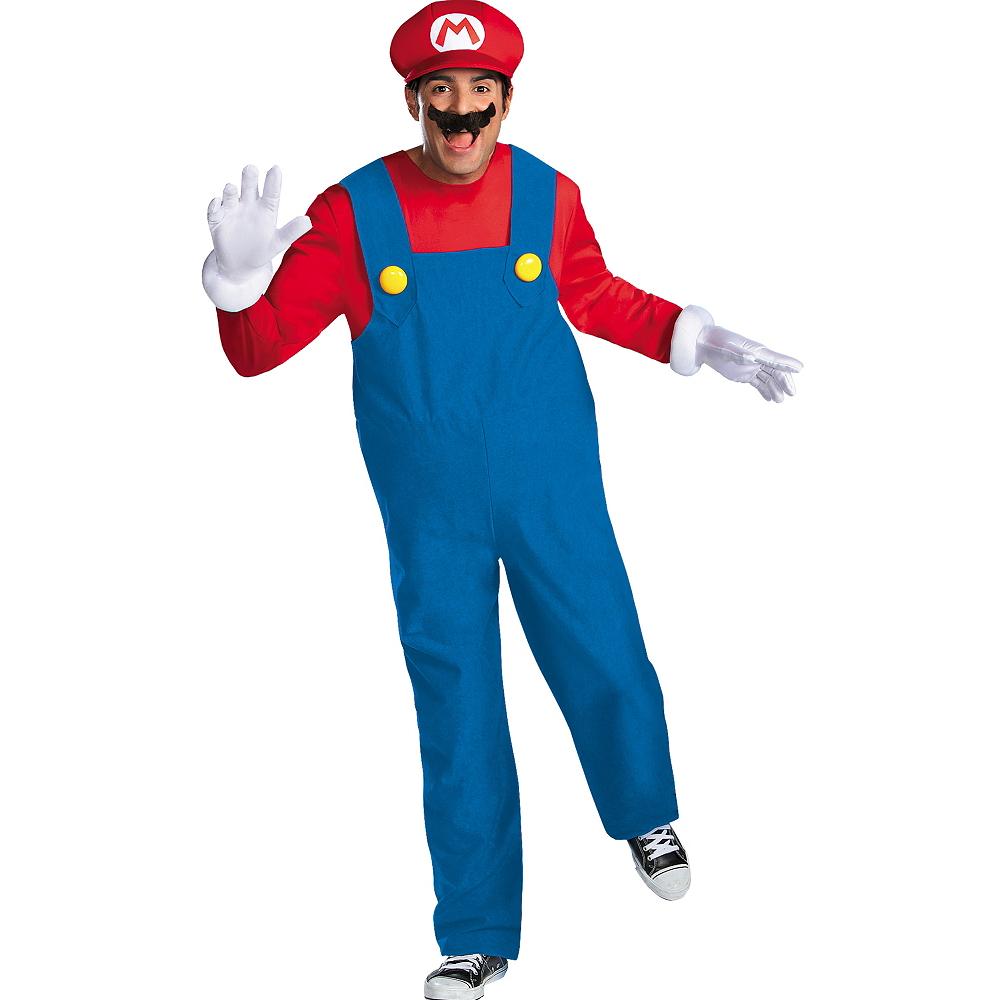 Adult Mario Costume Plus Size Premium - Super Mario Brothers Image #1