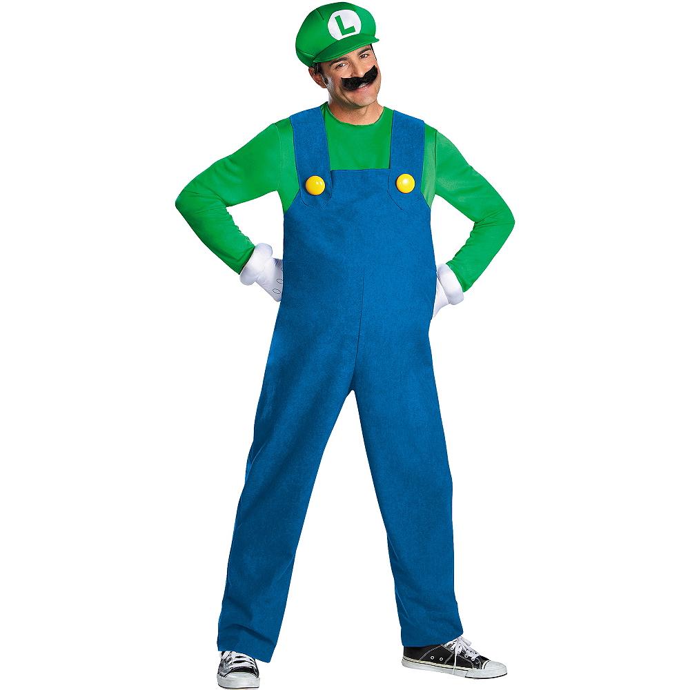 Adult Luigi Costume Premium - Super Mario Brothers Image #1