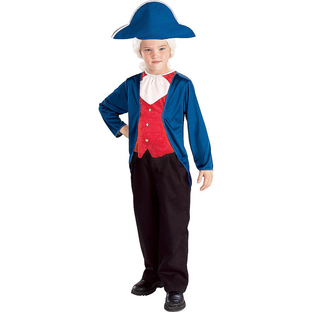 Boys Patriotic George Washington Costume Image #1