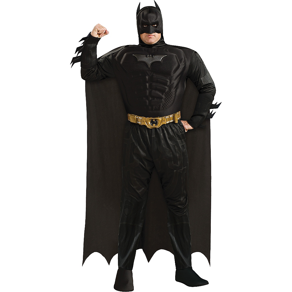 Adult Batman Muscle Costume Plus Size Deluxe - The Dark Knight Rises Image #1