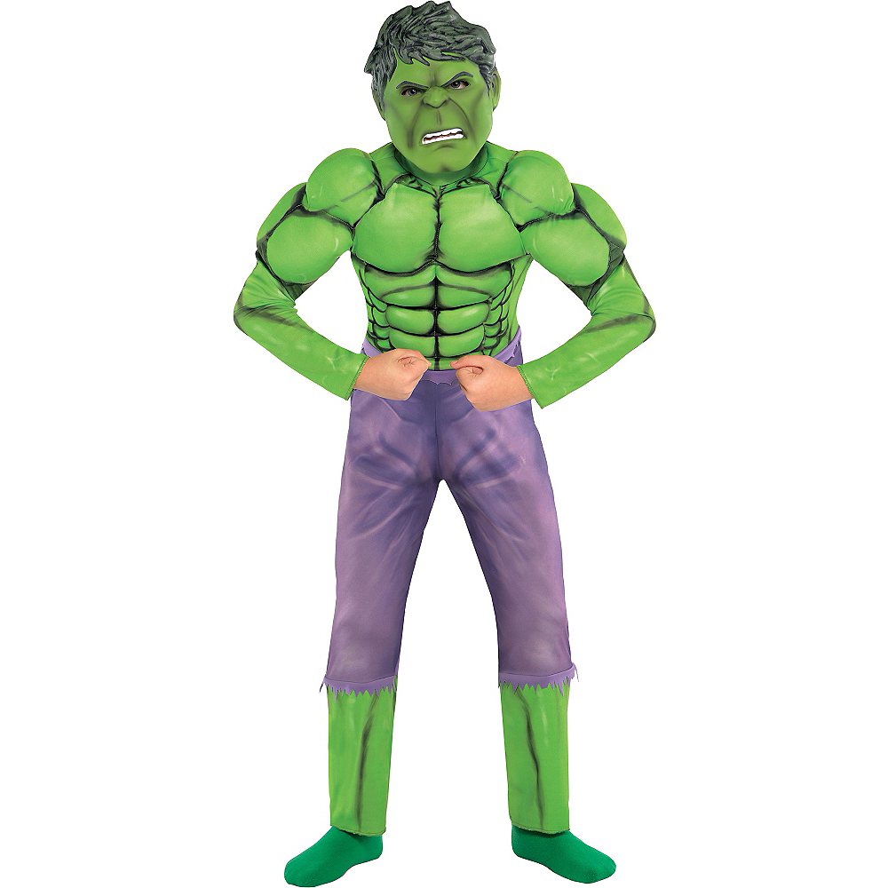 Boys Hulk Muscle Costume Image #1