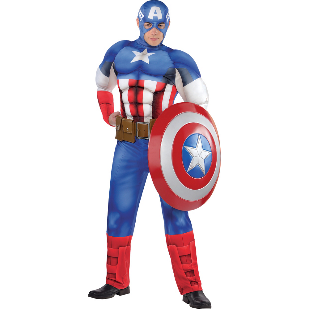 Adult Captain America Muscle Costume Classic Party City Find great deals on ebay for captain marvel costume. adult captain america muscle costume classic