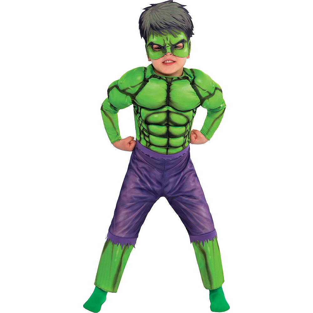 Nav Item for Toddler Boys Hulk Muscle Costume Classic Image #1