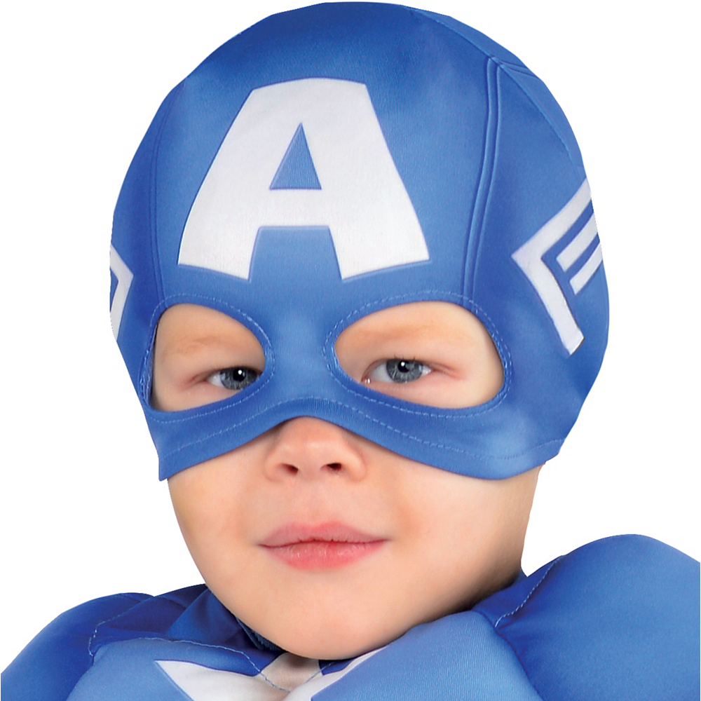 Nav Item for Toddler Boys Captain America Muscle Costume Classic Image #2