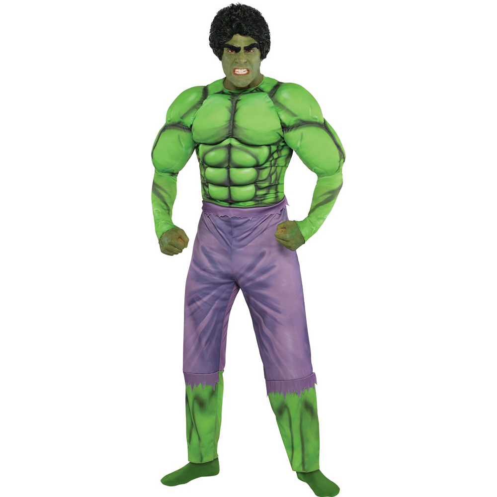 Adult Hulk Muscle Costume Classic Image #1