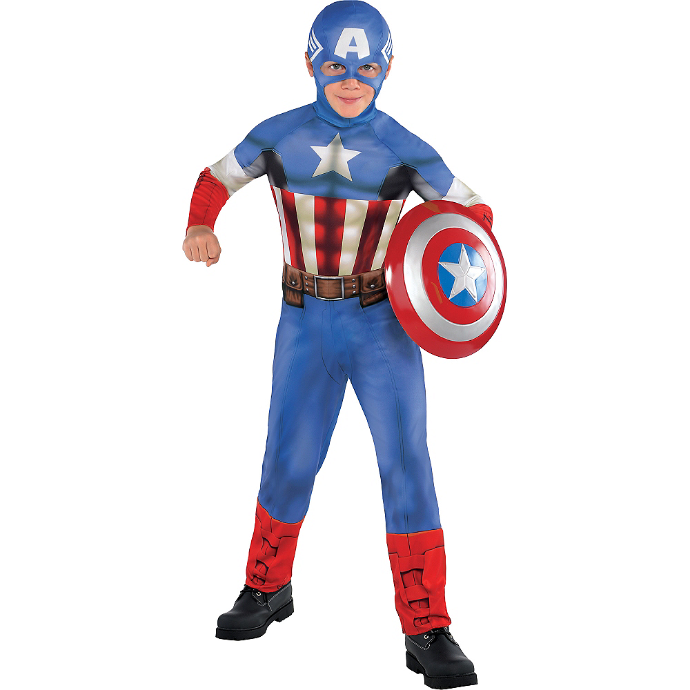 Nav Item for Boys Captain America Costume Classic Image #1