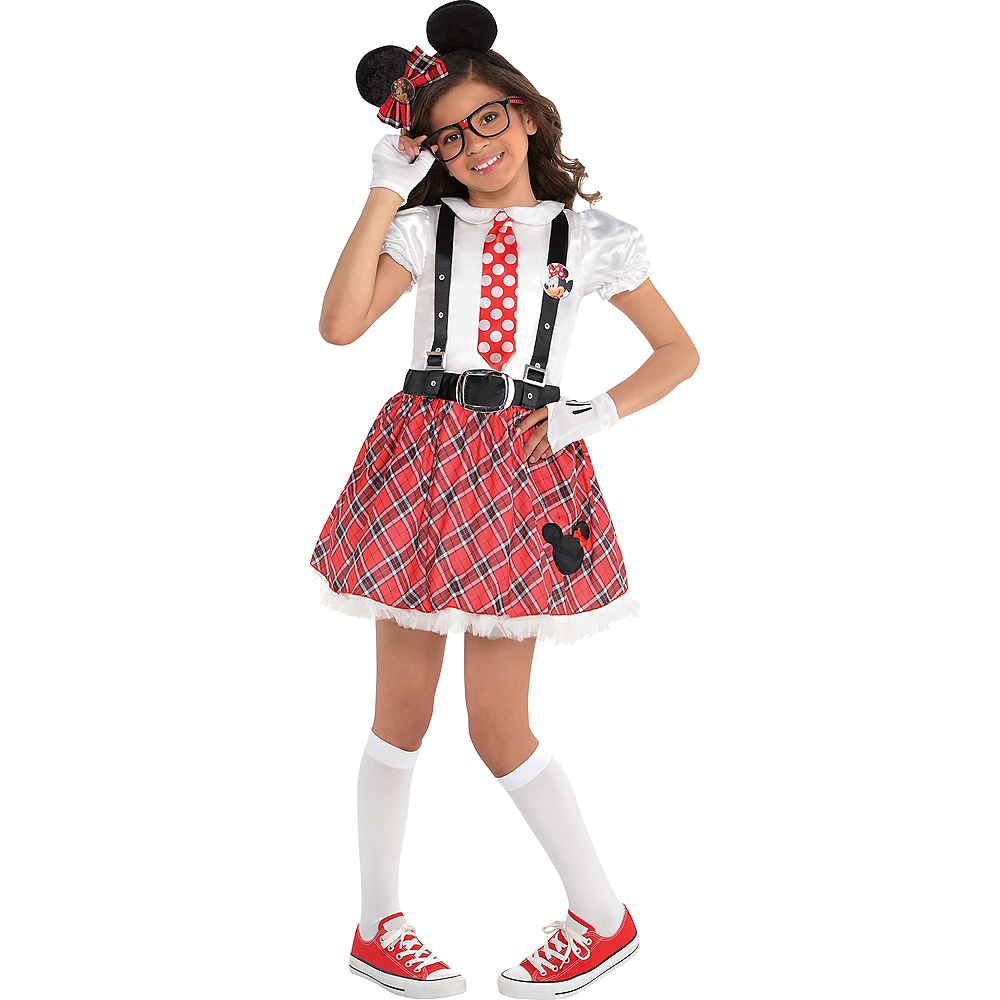 289ca13a3 Girls Minnie Mouse Nerd Costume Image #1 ...