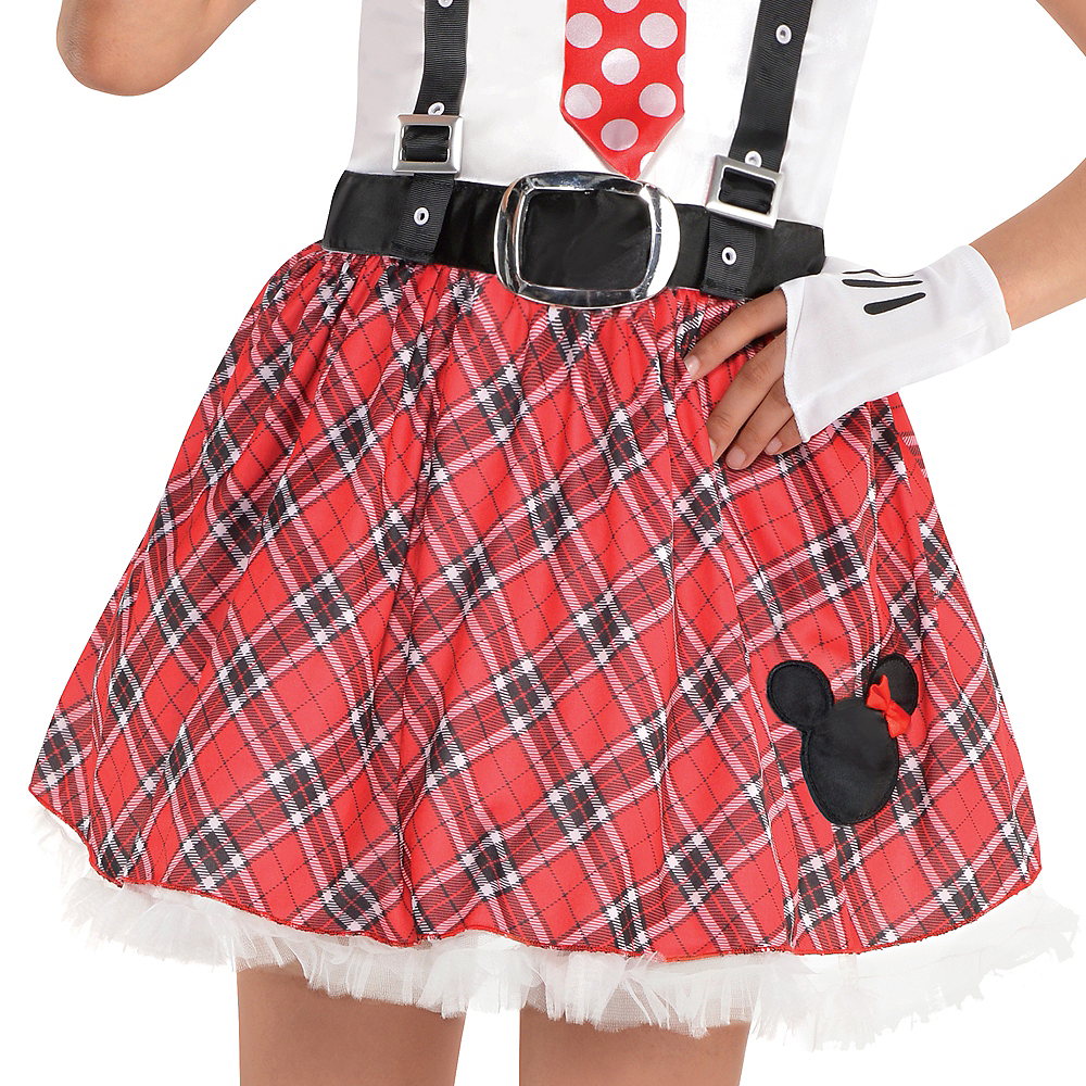 Girls Minnie Mouse Nerd Costume Image #3