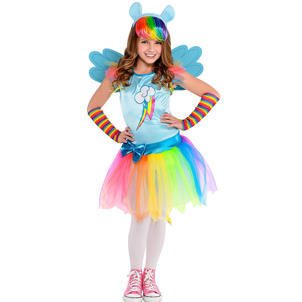 Nav Item for Girls Rainbow Dash Costume - My Little Pony Image #1