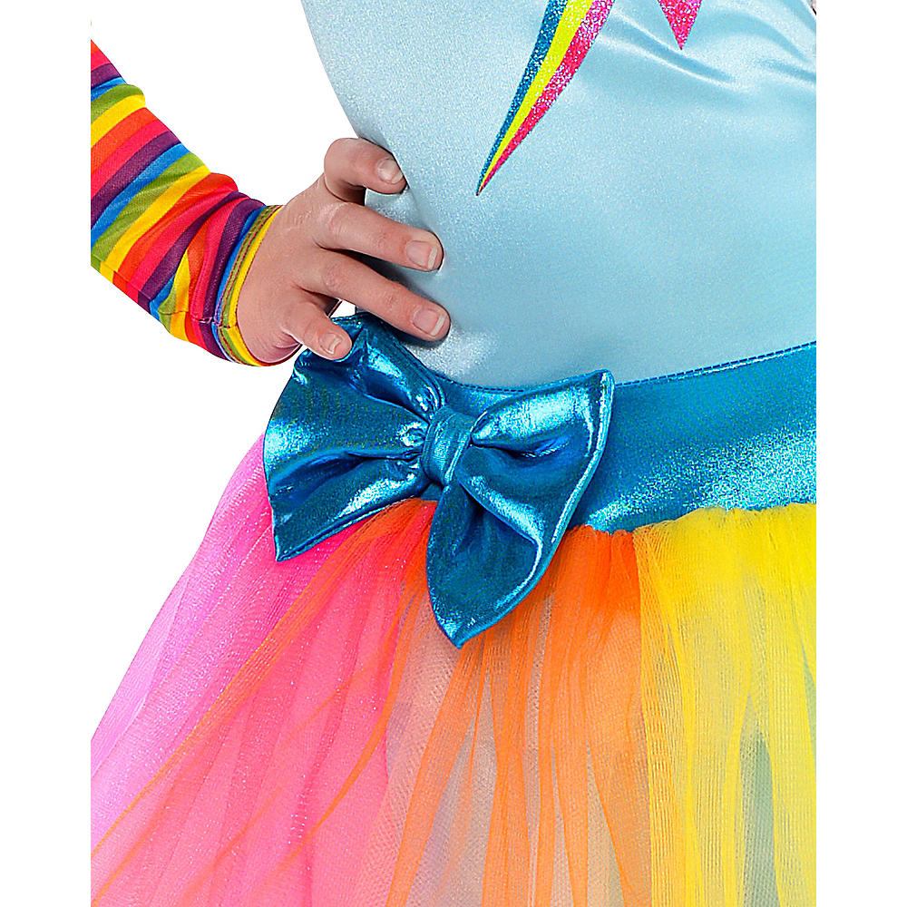 Nav Item for Girls Rainbow Dash Costume - My Little Pony Image #5