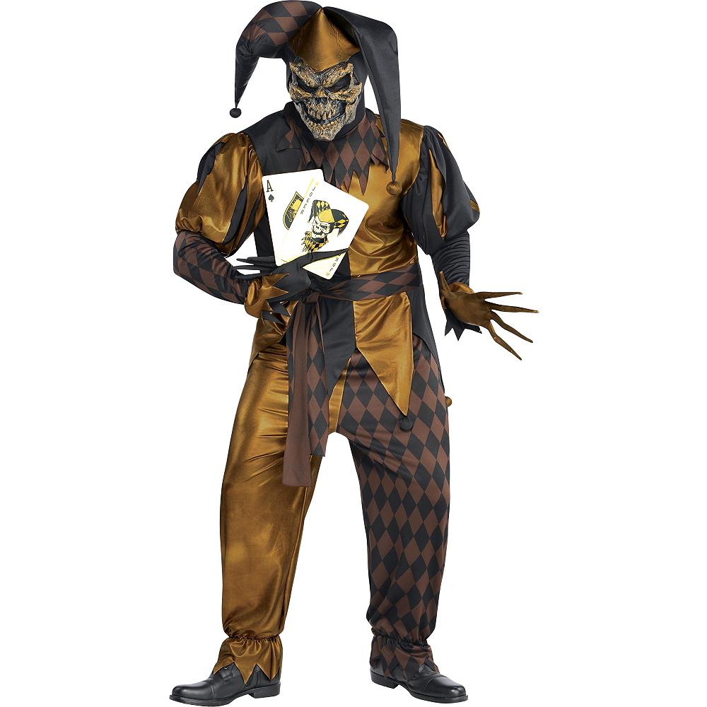 Adult Joker's Wild Skeleton Costume Plus Size Image #1