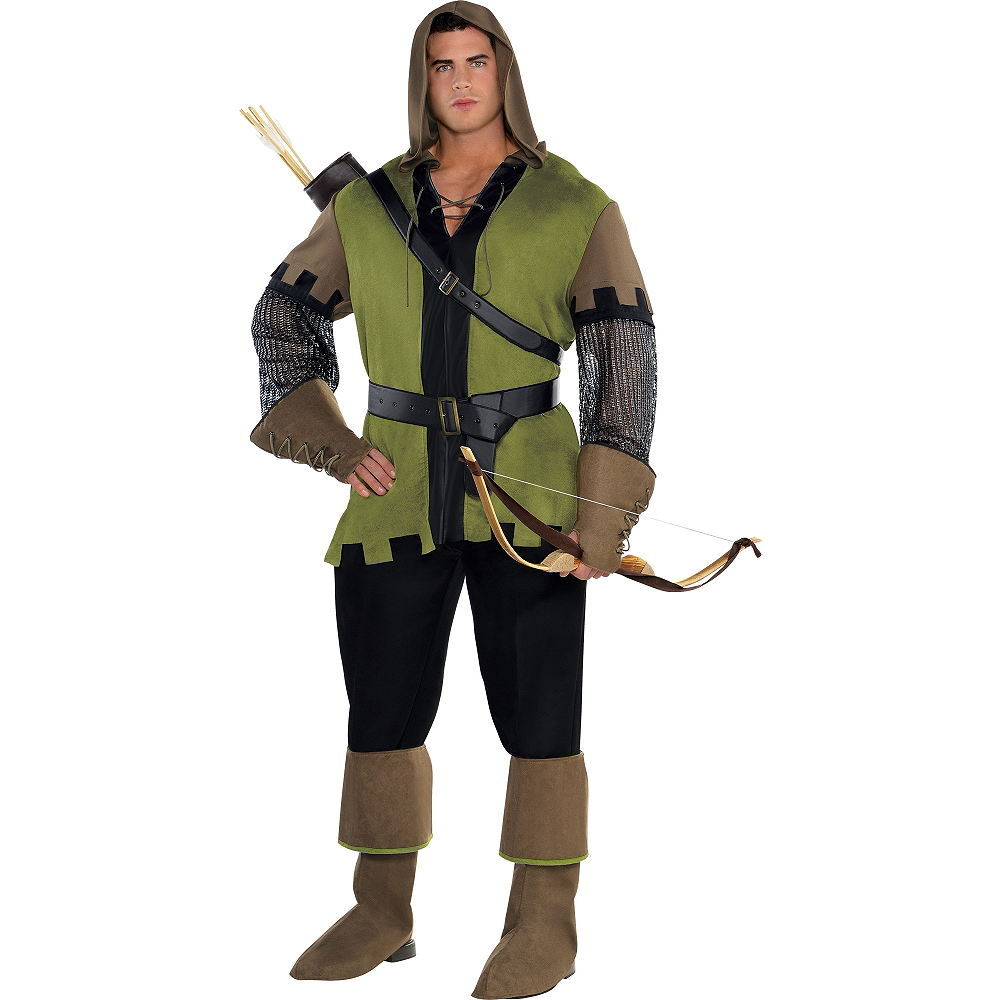 Adult Prince of Thieves Robin Hood Costume Plus Size Image #1